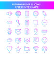 25 blue and pink futuro user interface icon pack vector image vector image