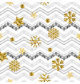 a gold snowflake pattern zigzag christmas chevron vector image vector image