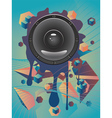 Abstract Audio Speaker vector image vector image