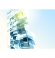 Abstract building from the lines vector image vector image