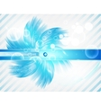 abstract line and Stripe blue curve vector image vector image