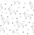 awesome seamless pattern with cartoon cute vector image vector image