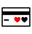 bank card icon black color icon vector image vector image