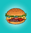 burger fast food restaurant vector image