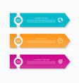 business infographic template with 3 arrows vector image vector image