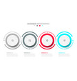 business infographic template with 4 options vector image vector image