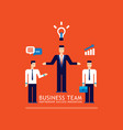 business team businessman successful teamwork vector image