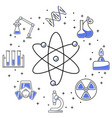 chemistry icons banner vector image vector image