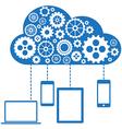 Cloud Computing Flat Concept vector image