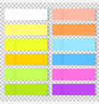 colorful office bookmarks or sticker note vector image