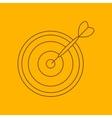 Darts line icon vector image vector image
