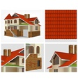 Details of house in section vector image