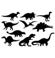 dinosaurs and t-rex monster reptiles vector image