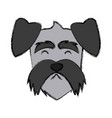 dog head cartoon vector image vector image