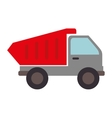dump truck construction icon graphic vector image vector image