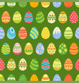 easter eggs seamless pattern holiday vintage vector image vector image
