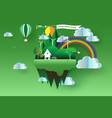 eco green landscape flat design vector image vector image