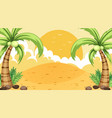 empty nature beach ocean coastal landscape vector image