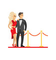 famous celebrities couple on red carpet isolated vector image vector image
