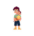 flat adult man and infant baby vector image vector image