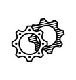 gears icon design vector image