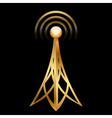 gold antenna vector image vector image