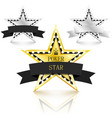 golden and silver stars with diamonds set on vector image vector image