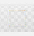 golden border frame with light shadow and light vector image