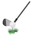 Golf ball and club vector image