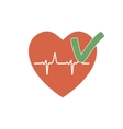 Heartbeat OK Icon vector image