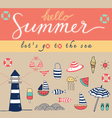 hello summer colorful vector image