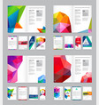 huge set of visual identity with letter logo vector image vector image