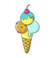icecream icon cartoon style vector image