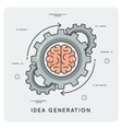 idea generation linear flat style concept vector image vector image