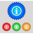 Information sign icon Info speech bubble symbol vector image vector image