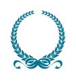 Laurel wreath with heraldic ribbons vector image vector image
