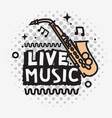 live music in the concert design with a vector image vector image