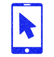 mobile arrow pointer grunge icon vector image vector image