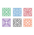 modern chinese pattern window in square concept vector image vector image