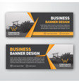 modern corporate banner background vector image vector image