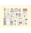Modern design flat icon collection concept vector image vector image