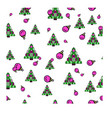 new year christmas pattern vector image