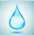 one big light blue drop vector image vector image