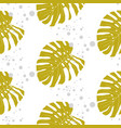 pattern with monstera leaves for surface design of vector image vector image