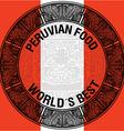 Peruvian food vector image vector image