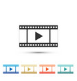 play video icon isolated on white background vector image vector image