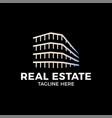 real estate construction logo design template vector image vector image