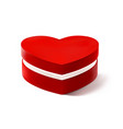 red heart box for valentines day or special vector image vector image