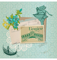 Scrapbook Design Elements - Venice Vintage Card vector image vector image