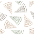 Seamless pattern pizza with mashroom scetch vector image vector image